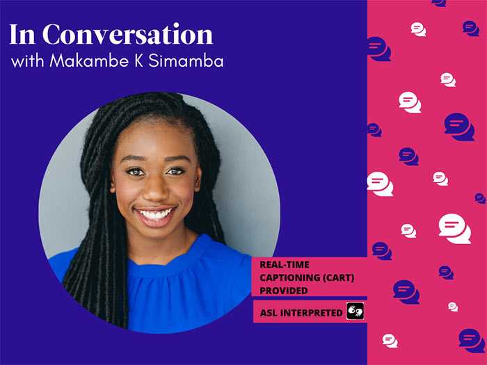 Poster for Intrepid Theatre's artist talk with Makambe K Simamba