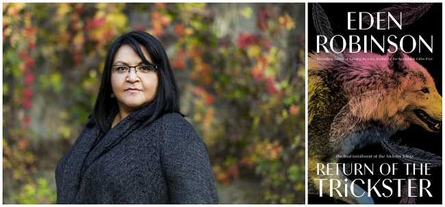Portrait of Eden Robinson and the cover of