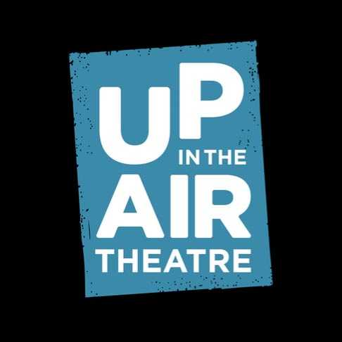 Upintheair Theatre logo in teal and white