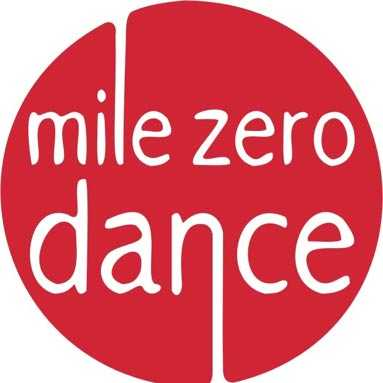 Mile Zero logo in red and white