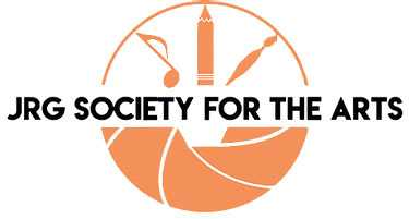 JRG Society for the Arts logo in orange and black