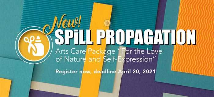 Poster for Spill Propagation Residency: For the Love of Nature and Self-Expression